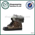Monos de goma de la plataforma de las mujeres botas de invierno warm  d-615