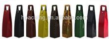 custom leather wine bag carrier HDP830