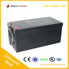 Maintenance-free sealed lead acid battery 12v230ah ups AGM lead acid gel battery