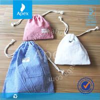 custom high quality drawstring cotton bag