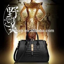 Wild Beauty Lady Bags Fashion Hot Women Crocodile Leather Handbags 168
