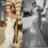 MR-012 Galia Lahav 2014 Design Mermaid Sweetheart Straps See Through Back Appliqued Tulle Trumpet Wedding Dress Patterns