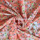 wholesale hot sale polyester pink polka dot chiffon fabric