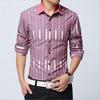 New casual long-sleeved striped male slim fit shirts S,M,L,XL,2XL,3XL,4XL,5XL