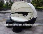 10190 outdoor&garden pe rattan/wicker furniture- stackable sunbed/sun loungers