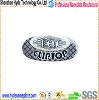 custom epoxy flower shape sticker with adhesive, plastic flower shape sticker label