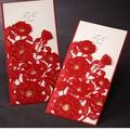 China venda buraco cortado a laser branco puro luxo eco- friendly moda chinesa cartão convite de casamento