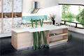 bancada da cozinha de cristal de quartzo branco