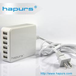 Hapurs 6 Ports Family -sized Desktop usb charger