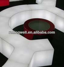 LED modern furniture led ring light bench/Modern lounge bench furniture/cheap lighted halloween