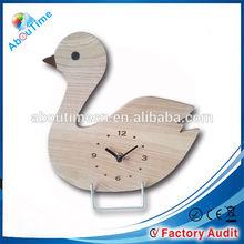 wood table clock/quartz analog alarm clock/children art home decor desk clock