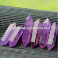 semi preciosa de piedra amatista púrpura y punto de cuarzo tubo de cristal para la curación y la curación de cristal