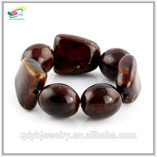 Coffee Color Design for Men Irregularity Big Bead Bracelet