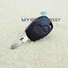 Cheap price 2 button transponder key for Renalt Clio remote key