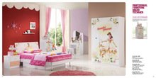 cartoon MDF kids bedroom furniture sets cheap girl furniture