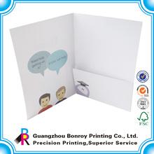 A4 metal hook closure promotion portfolio folder