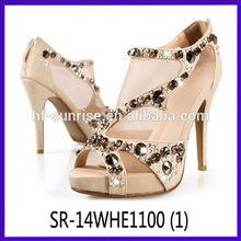 fashion lady dress shoes crystal lady dress shoes sexy high lady dress shoes
