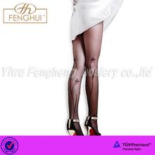Summer slimming leg tulip printing pantyhose