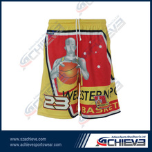 youth basketball shorts for team/ club with 100% polyester