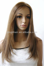 New product tangle free straight natural wave light brown synthetic wig