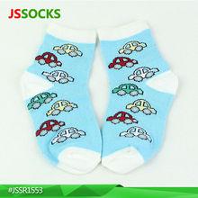 Custom cute korea socks for babies with lovely cars