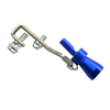 Universal Blue Size S Turbo Sound Whistle Muffler Exhaust Pipe BOV Simulator Whistler