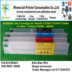 wide format printer Refillable Ink Cartridge for Mutoh VJ1604 440ml
