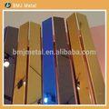 الفولاذ المقاوم للصدأ جدار ديكور خماسي للفنادقدائمة