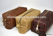 Gift for Man Leather Dopp Kit Shaving Kit Toiletry Bag Grooming Kit