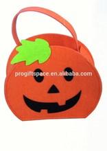 hot sale 2015 top quality new products festiva ldecoration cute design the most popular eco cheap felt halloween pumpkin bag