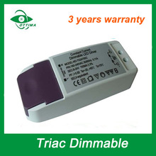 12-24v led power supply 12w constant current triac dimmable led driver class II with 3 years warranty
