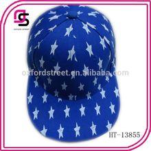 Fashion plain dyed baseball cap holiday baseball cap with star pattern