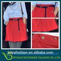 Venda quente mulheres lady projeto botão curto saia vermelha