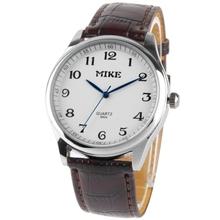 White Dial Men Quartz Leather Watch / Couple Watch
