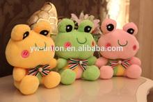 2014 Hot Sell Stuffed Plush Frog /Mascot Custom 15 cm Frog stuffed toy