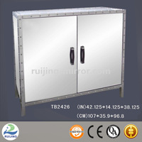 mirror glass diagonal corner cabinet