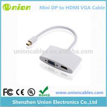 Mini DisplayPort DP to HDMI VGA Female 2 in 1 Adapter for MacBook Pro Air