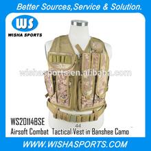 Archer Deluxe Combat Mesh Airsoft Military Tactical Vest in Kryptek BANSHEE Camo