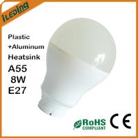 E27 8W Plastic Aluminum Heatsink for A55 LED Lamps