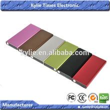 mixed colors capacity universal external battery power bank