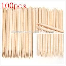 100Pcs Nail Art Orange Wood dotting tool Stick Cuticle nails tools Pusher Remover nail art pen