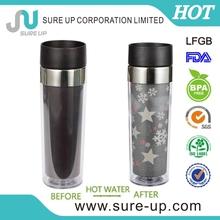 Cute glow in the dark plastic cup(MPUG)