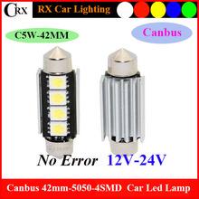 Cnabus Festoon 42MM 5050 4SMD Led Car Light 12V Reading Led License Plates