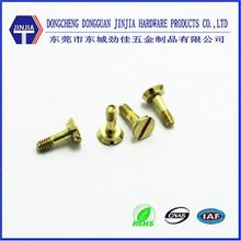 Chine screw manufacturer brass counter sunk head slotted screws