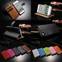 China Manufacturer New Arrive Pouch With Card Slots Flip Stand Wallet Leather Case for Iphone 6