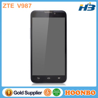 """Mobile Phone Tracking Device Low Price China ZTE Unlocked Cell Phone 5"""" Dual Sim Mobile Phone ZTE V987 With MTK6589 Quad Core"""