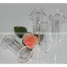 conjunto de 4 clear tubo de acrílico do bolo de casamento casamento pilar de cristal pilares