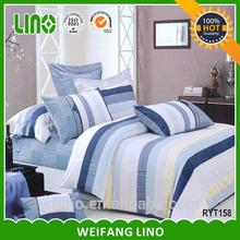 New design gold silk duvet cover/bedding set satin cotton/branded bed sheet wholesale