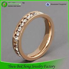 Fashion high quality finger ring stainless steel rose gold ring design diamond engagement ring J3-0093