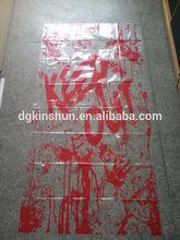 halloween handprint clings, bleeding handprint table cloth for halloween